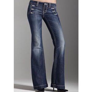 Miss Me Wide Leg Trouser Sailor Button Jeans 28x33